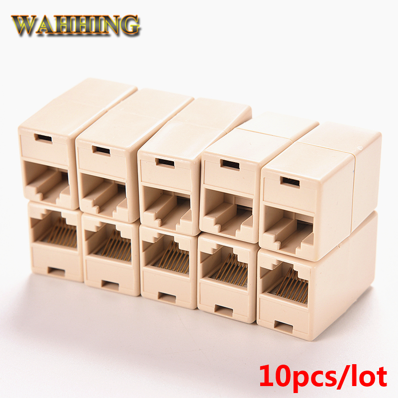 10pcs/lot Cable Joiner RJ45 Adapter Network Ethernet Lan Coupler Connector CAT 5 5E Extender Plug HY194 rj45 connector cat5 cat6 lan ethernet splitter adapter 8p8c network modular plug for pc laptop 10pcs aqjg