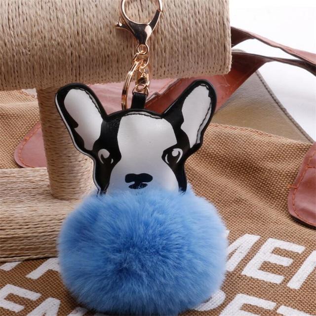 Cool Bulldog Ball Adorable Dog - Mulitcolor-Fluffy-Rabbit-Fur-Ball-French-Bulldog-Keychains-Lovely-Pompom-Key-Chain-Cute-Dog-Keyring-Holder  Trends_70246  .jpg