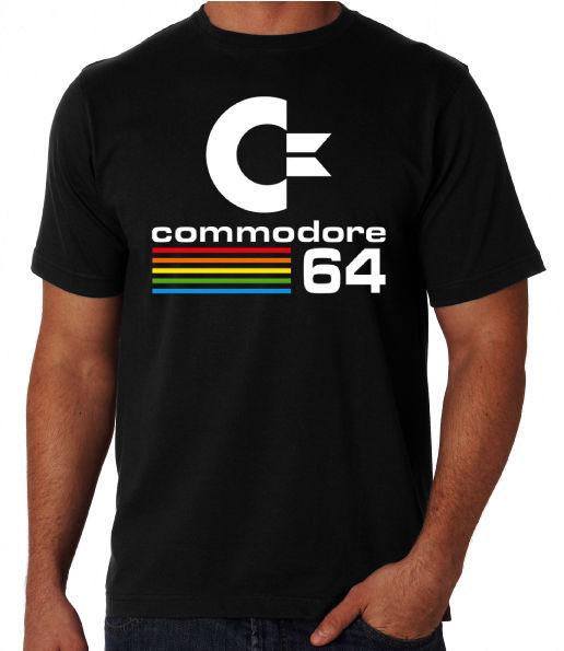 Commodore 64 Ретро классика 80-х компьютера Nerd восьмидесятых костюм партии футболка унисекс модная футболка аниме