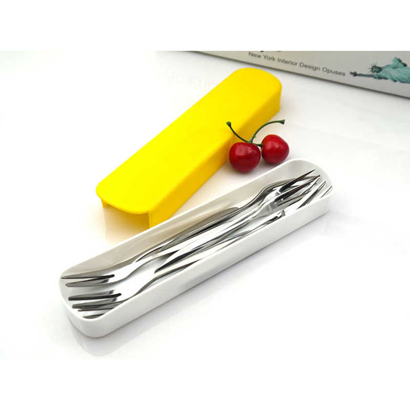 2019 Soild Color Portable Plastic Chopsticks Box Fork Spoons Storage Case Cutlery Traveling Camping Supplies Storage Box-