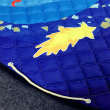 solar system planets pattern polyester fabric quilting mat kids/children round carpet diameter 150cm toys storage bags