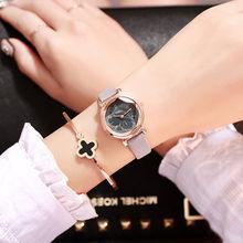 Polygonal dial Simple design women watches luxury fashion dress quartz watch popular brand gray ladies leather wristwatch