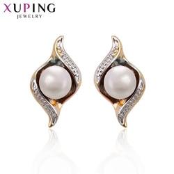 Xuping moda luksusowe kolczyki Multicolor syntetyczna sześcienna cyrkonia dla kobiet boże narodzenie biżuteria prezenty 93771