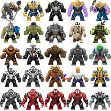 Single Big Size Marvel Venom Edward Brock Anti-Venom Hulk Thanos Cull Obsidian Batman Bane models Building Blocks Toys(China)