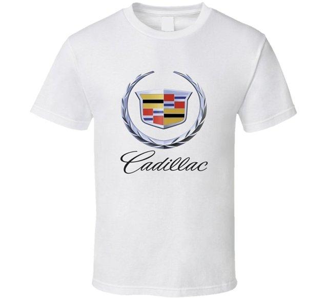 Cadillac Car Logo White T-Shirt