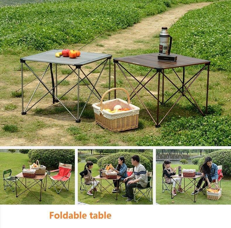 de acampamento portátil móveis mesa de piquenique dobrável