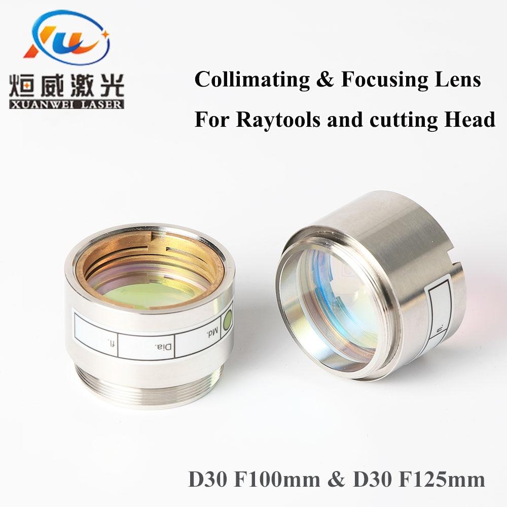 Fiber Laser Focus Lens D30 F100 F125mm with Lens Holder for Raytools WSX Laser Cutting Head BT240 BT260 BT240S 0-4KW
