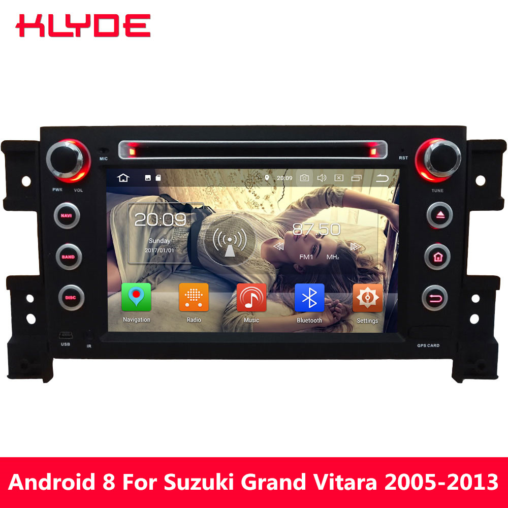 KLYDE Android 8 7 Octa Core 4GB RAM 32GB ROM Car DVD Player For Suzuki Grand Vitara 2005 2006 2007 2008 2009 2010 2011 2012 2013 klyde 9 ips 4g android 8 0 octa core 4gb ram 32gb car dvd player radio gps navigation for mazda 3 2004 2005 2006 2007 2008 2009
