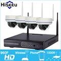 4CH 960 P HD Беспроводная Система ВИДЕОНАБЛЮДЕНИЯ Купольная Мощные WI-FI NVR Ip-камера IR-CUT CCTV Камеры Видеонаблюдения Комплекты Hiseeu