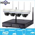 4CH 960P HD Wireless CCTV System Mini Dome Powerful WIFI NVR IP Camera IR-CUT CCTV Camera Security Surveillance Kits Hiseeu