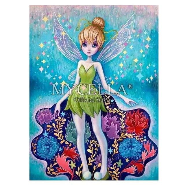 Cartoon 5D Diamond Painting Kit Tinkerbell Peter Pan Fairy Diamond  Embroidery Cross Stitch DIY Rhinestone Mosaic Full Wall Decor da2e39d17690