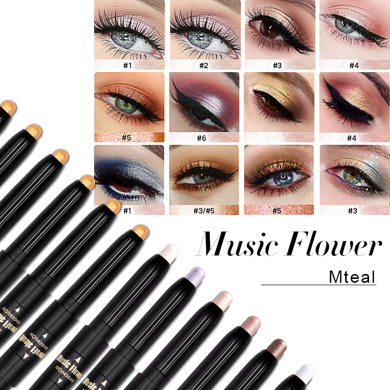 Dropshipping Music Flower Golden Halo Stick High Definitio Brighten Shimmer Makeup Pencil Bronzer With Light Pearl Shine