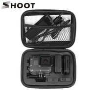 ATIRAR Pequeno Portátil Ação EVA Camera Case para GoPro Herói 8 7 6 5 Preto Xiaomi Yi 4K Sjcam Sj4000 Eken H9r Caixa De Ir Pro Acessório