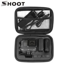 цена на SHOOT Portable Small EVA Action Camera Case for GoPro Hero 7 6 5 Black 4 Xiaomi Yi 4K Sjcam Sj4000 Eken H9r Box Go Pro Accessory