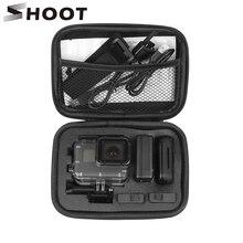 SHOOT przenośny mały futerał na aparat fotograficzny EVA do GoPro Hero 9 8 7 5 czarny Xiaomi Yi 4K Sjcam Sj4000 Eken H9r Box Go Pro akcesoria