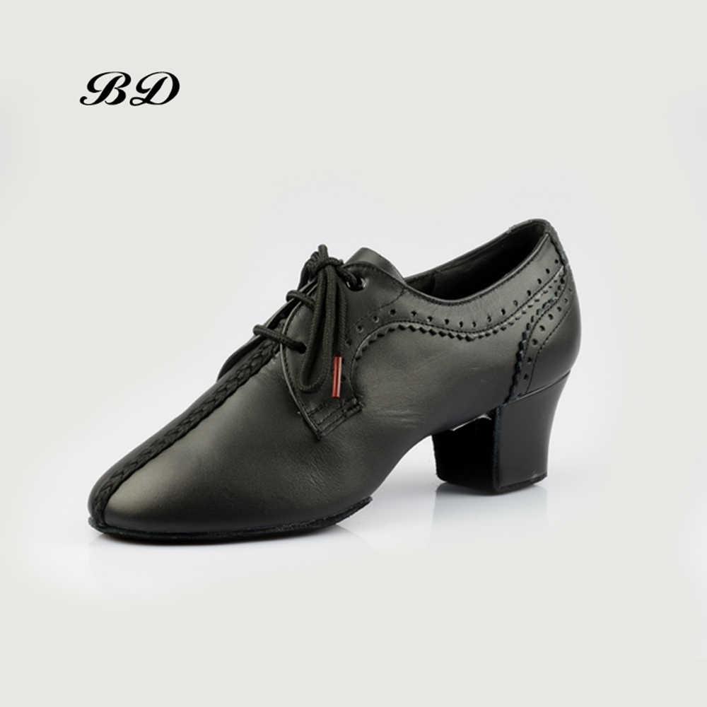 BD T84 zapatos de baile de salón zapatos de baile latino para mujer zapatos de baile Tango de cuero genuino profesores de práctica zapatillas de deporte caliente