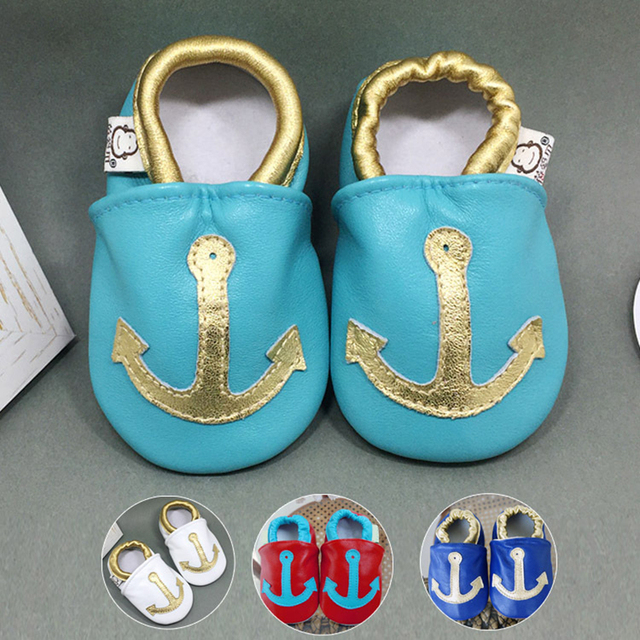 Wholesale Genuine Leather New Arrival Soft Soled Low Top Mixed Color Cartoon Printing Lovely Slip on Infants First Walker