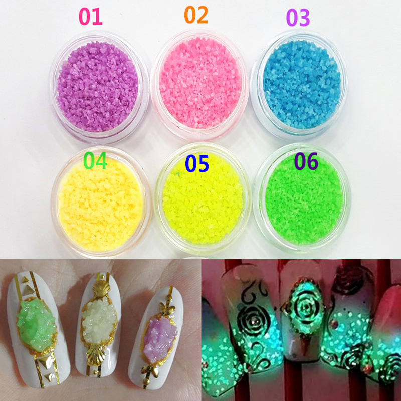 ツ)_/¯Sale New Colorful Style 1 Bottle Fluorescent Stone Glitter ...