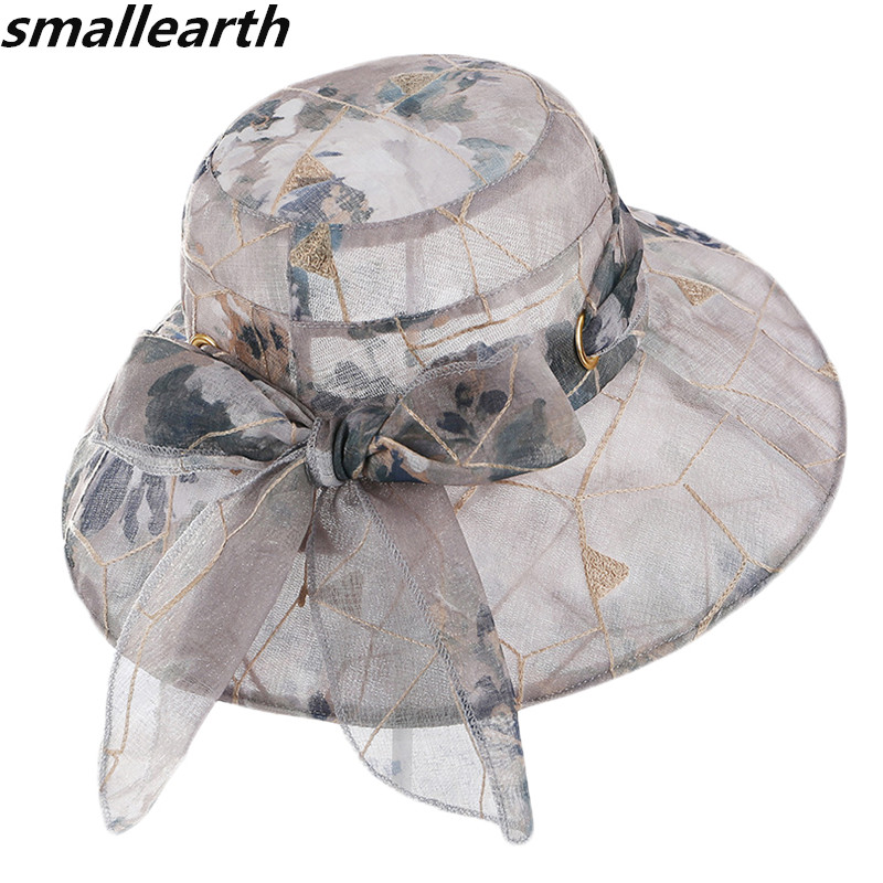 2019 New Wide Large Brim Sun Hats for Women Beach Hats Foldable Summer UV Protect Travel Cap Ladies Casual Cap Female Sun Cap image