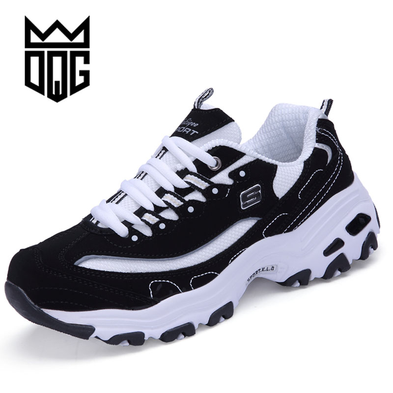DQG Men Running Shoes Unisex Outdoor Sneakers Breathable Mesh Athletic Shoes Lightweight Training Shoes Couples Sport Shoes mulinsen men running shoes black gray blue original athletic training sneakers men s sport flower printing shoes 270009