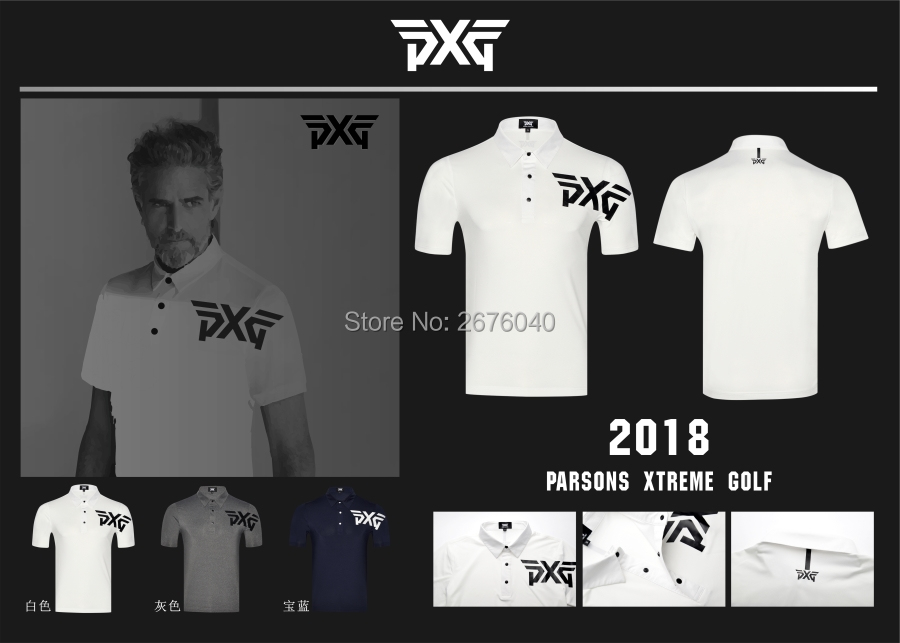 PXG Golf T-shirt mens Sportswear Short sleeve Golf T-shirt 3colors Golf clothes S-XXL in choice Leisure Golf shirt Free shipping new pxge mens sportswear short sleeve golf t shirt 3 colors golf clothes s xxl men jersey leisure golf shirt tops free shipping