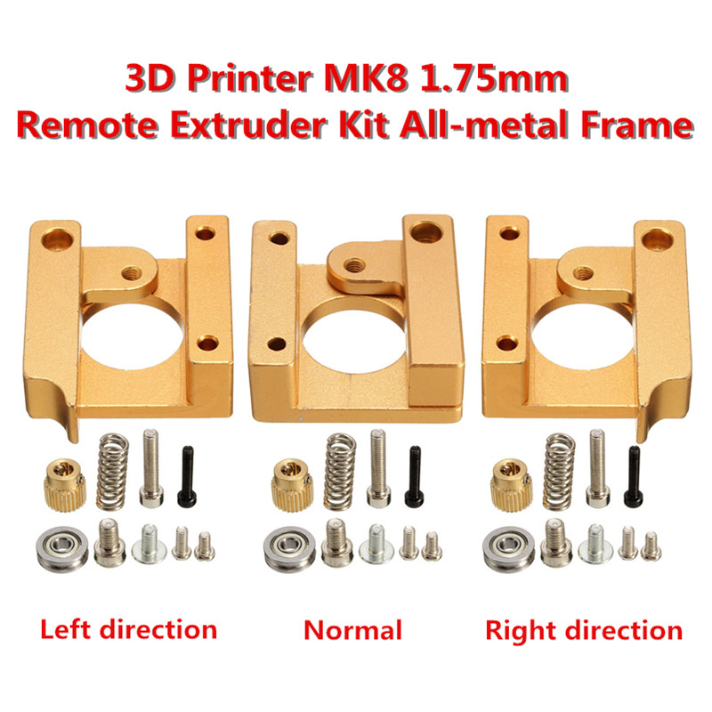 MK8 extruder aluminium extrusion block DIY KIT 1.75mm Filament Remote Extruder All-metal Frame For Makerbot Reprap 3D Printer