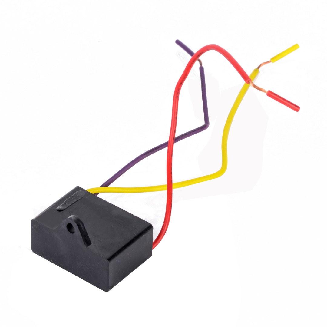 Online Shop 1pc Black Fan Capacitor Cbb61 15uf 25uf 3 Wires Ac Wire Diagram 250v 50 60hz