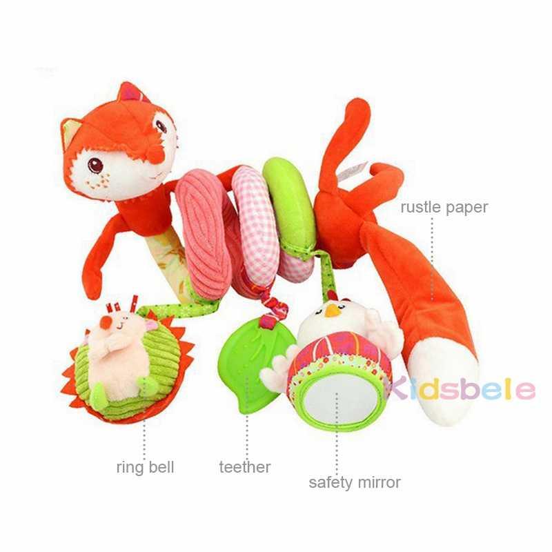 детские мягкие плюшевые игрушки кроватки висячие погремушки мобильные раскраски животные кольцо колокольчик звук детские игрушки для детей