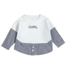 Купить с кэшбэком Autumn&winter Newborn Toddler Tops And Blouses Black&white Striped Top Kid Shirt With Long Sleeves T Shirt Baby Girl