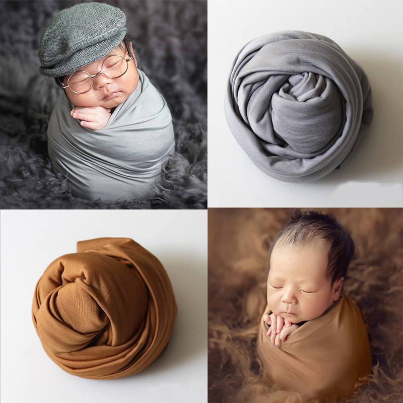 2018 Hot Baby Newborn Photography Props Baby Kids Cotton Fabric Costume Wrap Photo Props New Born Photography Accessories Tools stretch wrap photography props knitted fabric newborn stretch wrap rayon knit fabric for baby photo props