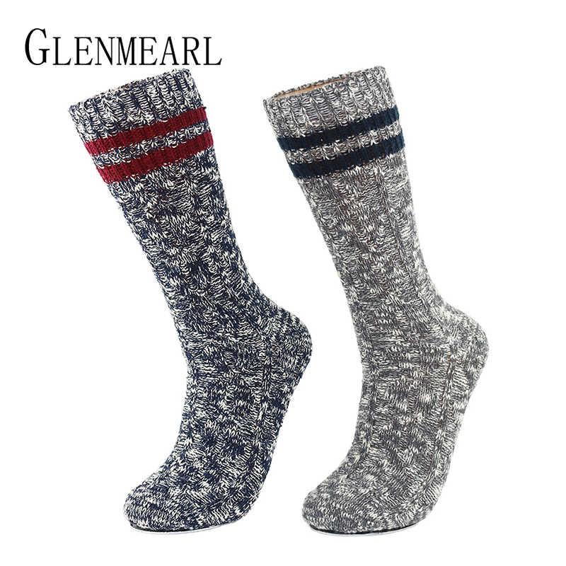 ถุงเท้าผู้ชายฝ้าย Boot Upscale ยี่ห้อฤดูหนาวสบายๆข้อเท้า Boot ถุงเท้าสำหรับ Men Warm Soft การบีบอัด Coolmax ถุงเท้าชาย