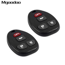 2Pcs 4 Buttons Remote Car Key Fob Shell Case 315Mhz For Chevrolet Malibu Cobalt Buick Allure LaCrosse KOBGT04A Replacement Parts