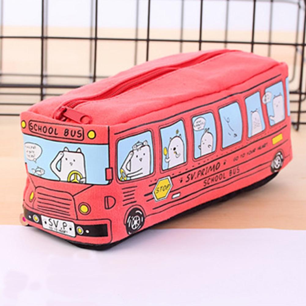 Bus Pencil Case Pen Bag Make-up Bags,Cute Creative Bus Pencil Stationery Pouch Pen Case Pencil Case For School/Office