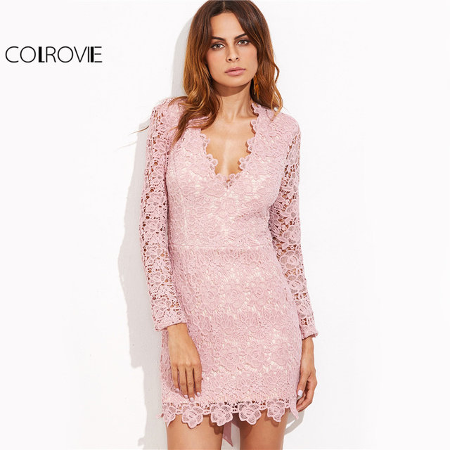 Tienda Online Colrovie vintage Encaje pajarita vestido sexy espalda ...