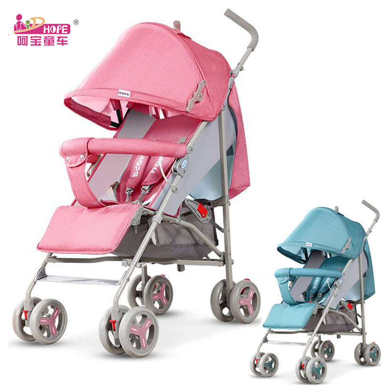 HOPE Baby Stroller Ultra Light Folding Travel Car Pram Can Sit Lie Child Summer Umbrella Stroller Four Wheels Baby Carriage 0~3Y цена в Москве и Питере