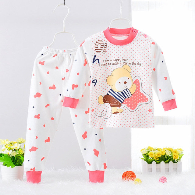 Children Clothes 2017 Winter baby Girls boys Clothes Set cottot T-shirt+Pants newborn suit Kids Girl Clothing Set