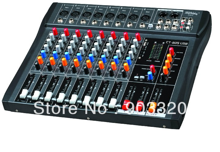 Us 142 5 Off Hot Ct 80s 8 Channels Professional Dj Audio Mixer With Usb Mp3 For Ktv Conference Stage Party Equipemnt In