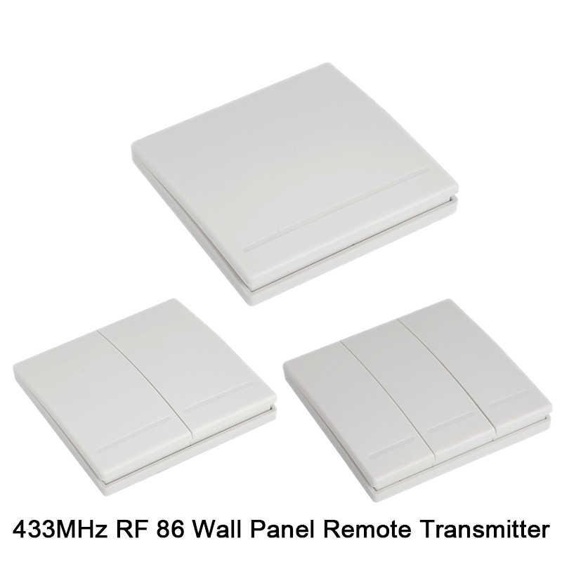 QIACHIP 433 MHz evrensel kablosuz uzaktan kumanda anahtarı AC 110V 220V 1CH röle alıcı modülü ve duvar paneli RF uzaktan kumandalar