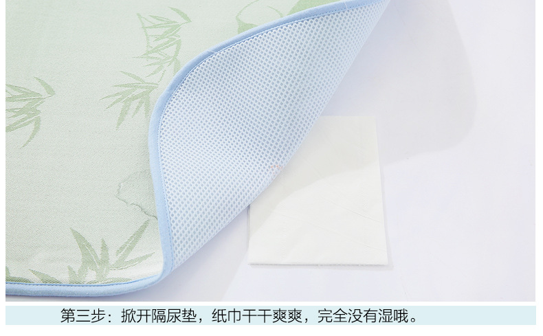 Baby Changing Pad Cover Strong Absorbent&Breathable Portable Foldable Washable Bamboo Fiber Waterproof Baby Summer Changing Mat (10)