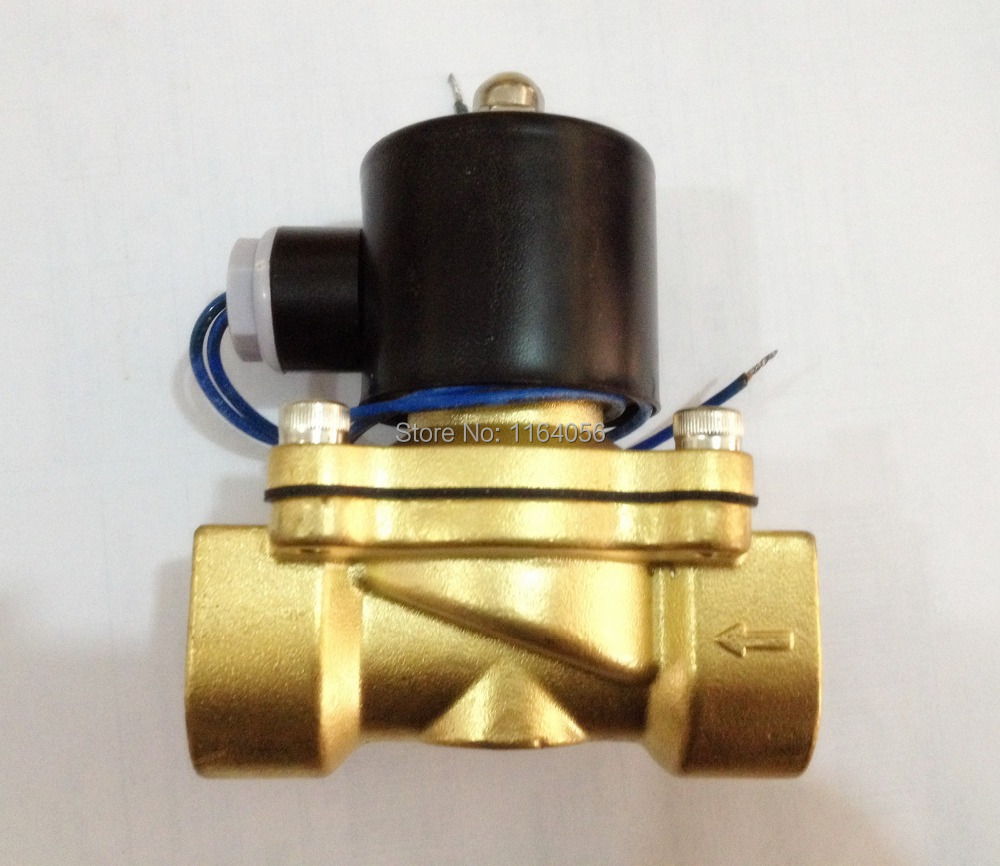 24V DC 1 Electric Solenoid Valve Water Air N/C 2W250-2524V DC 1 Electric Solenoid Valve Water Air N/C 2W250-25