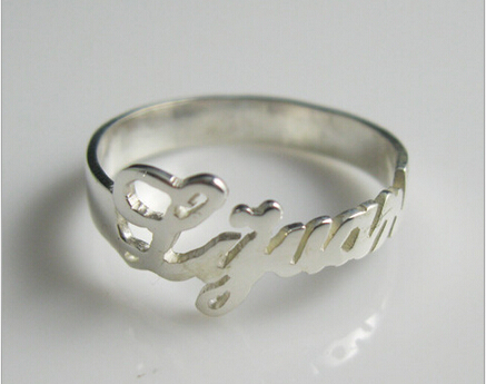 Us 24 44 Hot Couple Rings Personalized Rings Initials Custom Pure Silver Ring Custom Personalized Custom In Rings From Jewelry Accessories On