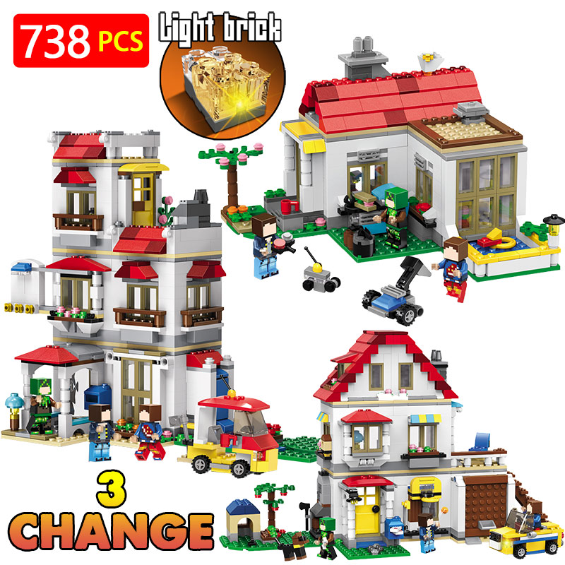 Technic Building Blocks Bricks LegoINGLYS Minecrafter The Family Villa My World Figure Kids Educational Toys For Children Gift qigong legendary animal editon 2 chimaed super heroes building blocks bricks educational toys for children gift kids