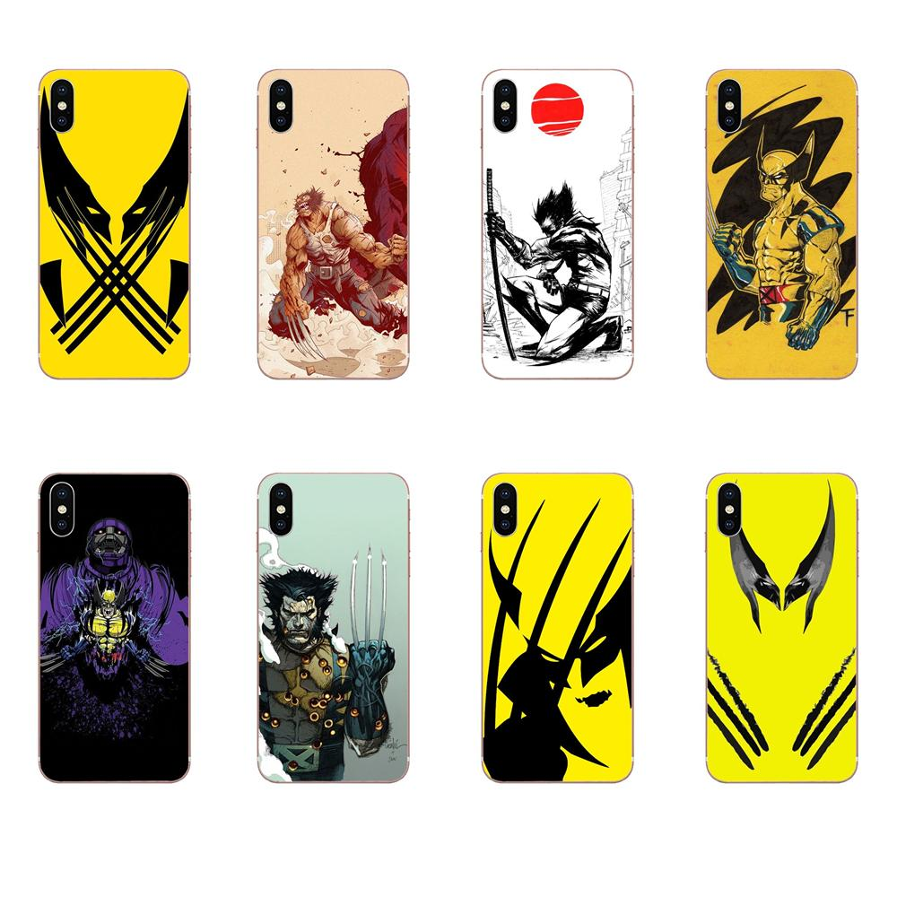 Comics X-men Wolverine Soft Phone Skin For Xiaomi Redmi Mi Note 7 8 9 SE Pro Lite Go Play image
