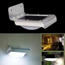 2pcs/lot LED Solar Light PIR Motion Sensor Wall Light Outdoor Waterproof Energy Saving Street Yard Path Home Garden Lamp