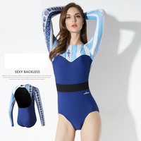 Women's Quick Drying Wetsuit Stinger Wet Suits Diving Skin Women One piece Backless Long Sleeve Jump Suit Swimsuit Swimwear