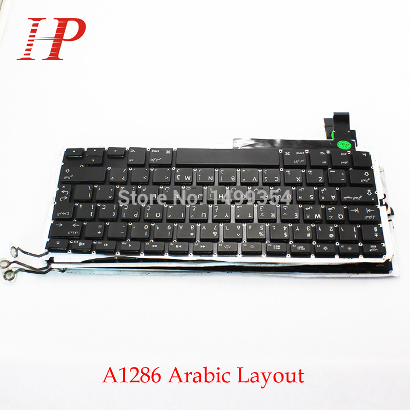 5PCS Genuine A1286 AR Arabic Keyboard With Backlight For Apple Macbook Pro 15 A1286 Keyboard Arabic Standard 2009-2012