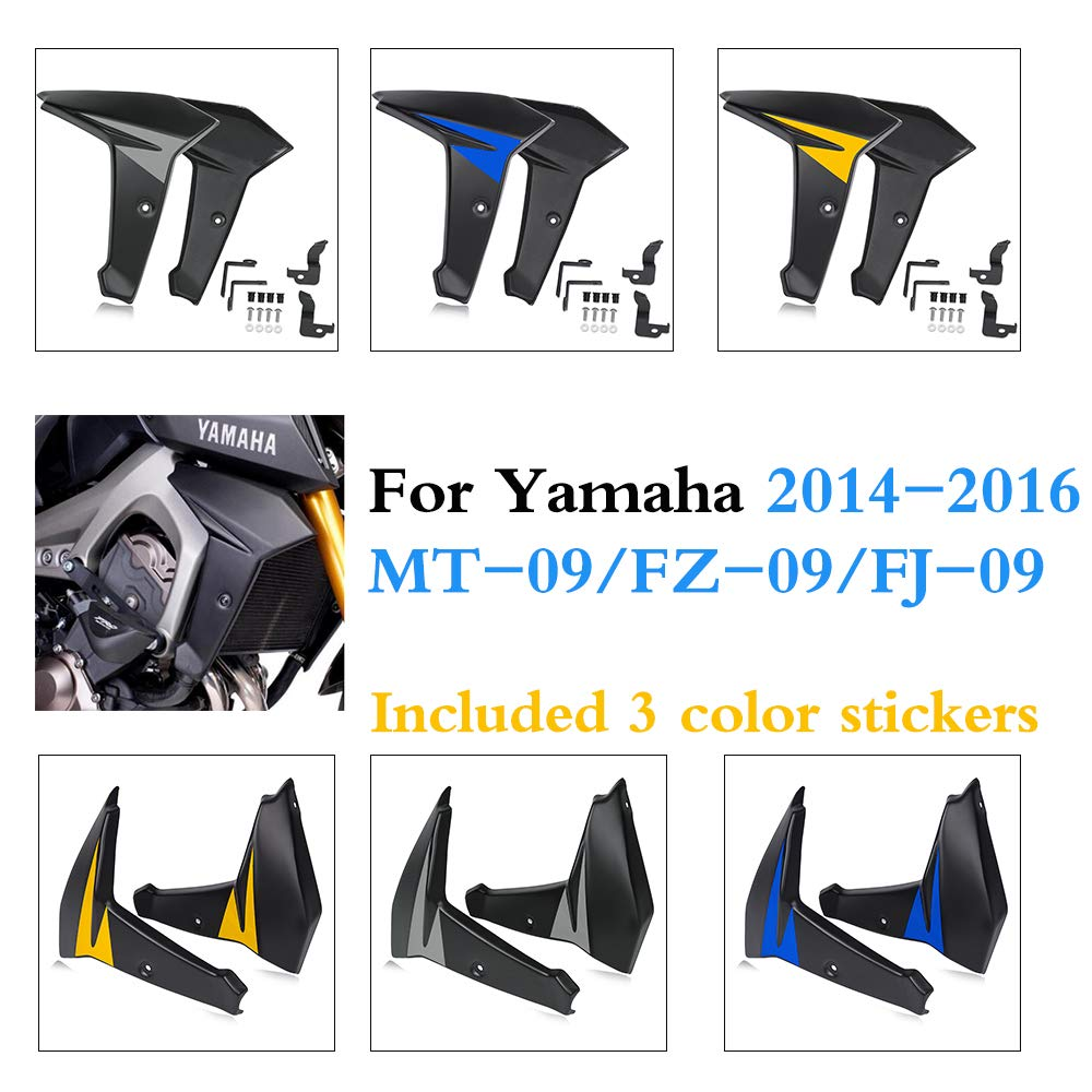 MT09 FZ09 FJ09 Bellypan Engine Spoiler with Radiator Side Fairing for 2014 2016 Yamaha FZ MT FJ 09 MT 09 FZ 09 FJ 09 2015 in Covers Ornamental Mouldings from Automobiles Motorcycles