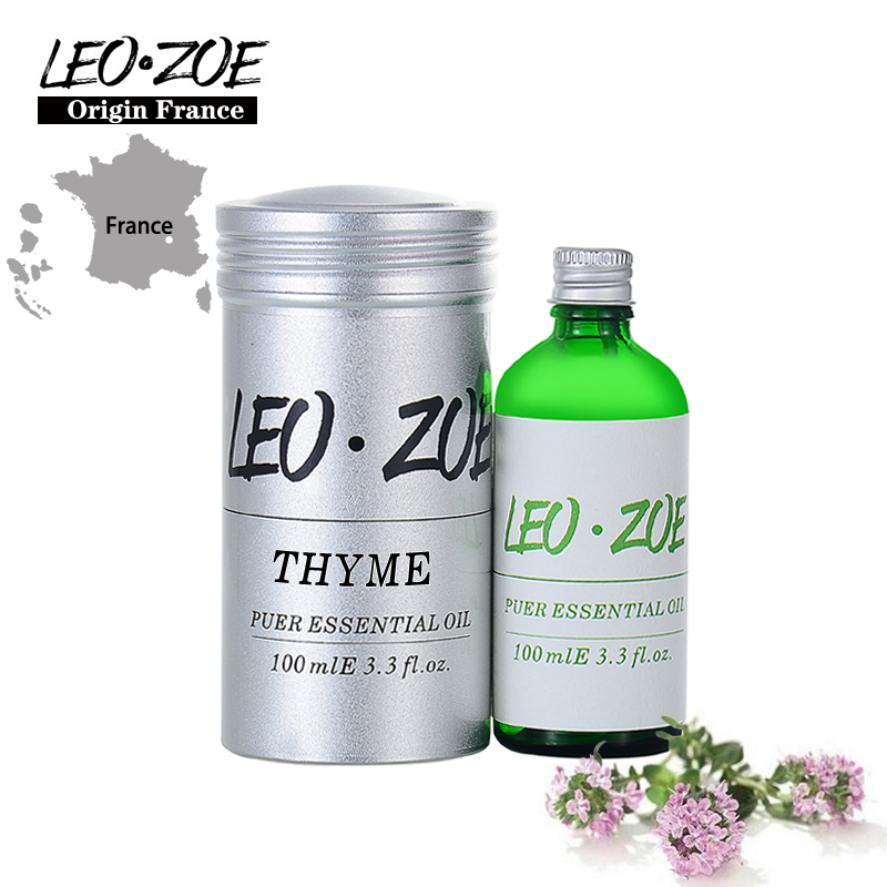 LEOZOE Thyme Essential Oil Certificate Of Origin France High Quality Aromatherapy Thyme Oil 100ML Aceites Esenciales well known brand leozoe clary sage essential oil certificate of origin russia high quality aromatherapy clary sage oil 30ml