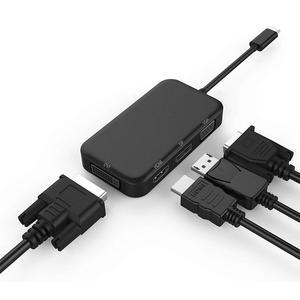 Amkle USB C 3,1 концентратор тип C HDMI DP VGA DVI видео адаптер USB C HDMI VGA Thunderbolt ключ для Macbook Dell Xps