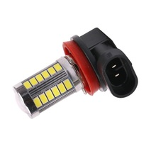 Car styling 1PCS H8 H11 33 SMD 5630 5730 LED360 degree Top Lens Lighting White Fog Daytime Running light Driving Lamp Bulb